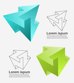 Three arrow design elements — Stockfoto