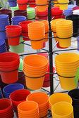 Vasos para plantas coloridas — Fotografia Stock