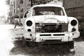 Abandoned car body — Stock Photo