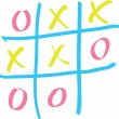 Tic-tac-toe on a white board — Stock vektor