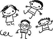 Kids doodle — Stock Vector
