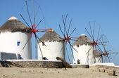 Moinhos de vento de Mykonos — Fotografia Stock