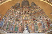 Mosaic in St. Mark Cathedral facade — Stock Photo