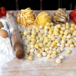 Ingredients of italian pasta — Stock Photo