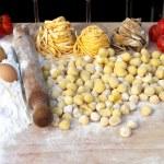 Ingredients of italian pasta — Stock Photo