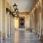 Colonnade in Corfu — Stock Photo
