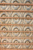 Decorated coffered ceiling — Stock Photo