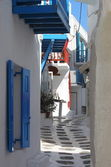 Urban scenic of Mykonos — Stock Photo