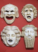 Ancient Greece theatre masks — Stock Photo