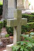 Starý kříž náhrobní — Stock fotografie