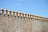 Castle battlements — Stock Photo
