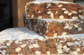 Wedges of Panforte — Stock Photo