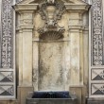 Renaissance fountain in Schwarzenberg Palace of Prague — Stock Photo