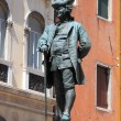 Carlo Goldoni statue in Venice - Stock Photo