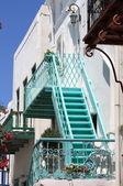 Urban scenic in Mykonos — Stock Photo