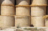 Hay bales in a barn — Stock Photo