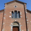 Facade of St. Peter Martyr church, Monza — Stock Photo