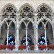 Arches of Vienna City Hall building — Stock Photo