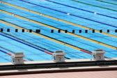 Olympic swimming pool — Stock Photo