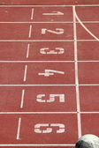 Race track in a stadium — Stock Photo
