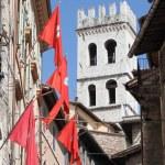 Urban scenic in Assisi — Stock Photo