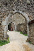 Entrance of a castle — Stock Photo