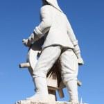 Ibiza town statue — Stock Photo