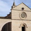 Facade of St. Claire Cathedral in Assisi - 