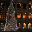 Colosseum by night in Christmas time — Stock Photo #14619551