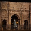 Arch of Constantine by night in Christmas time — Stock Photo