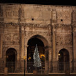 Arch of Constantine by night in Christmas time - 