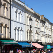 Portobello Road shops — Stock Photo