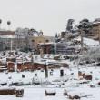 Roman Forum under snow — Stock Photo