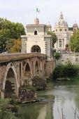 Milvio bridge in Rome — Stock Photo