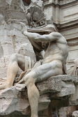 Marble Fountain in Navona Square of Rome — Stock Photo