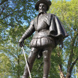 Statue of Sir Walter Raleigh - Stock Photo