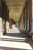 Colonnade of old Royal Naval College in Greenwich — Stock Photo