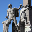 Stock Photo: Dioscuri statue