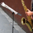 Sax player — Stock Photo