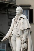 Statue of Carlo Goldoni in Florence — Stock Photo