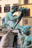 Satiri nella fontana del Nettuno di Firenze — Foto Stock