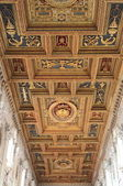 Cathedral wood ceiling — Stock Photo