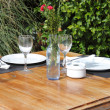 Table setting in a garden — Stock Photo