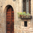 Medieval door with lamp and window — 图库照片 #17633235