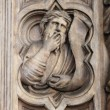 Basrelief on Bigallo Loggia of Florence — Stock Photo