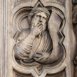 Basrelief on Bigallo Loggia of Florence - Stock Photo