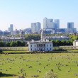 Stock Photo: London skyline from Greenwich hill