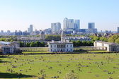 London skyline from Greenwich hill — Stock Photo
