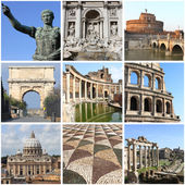 Rome landmarks collage — Stock Photo