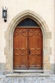 Medieval front door — Stock Photo